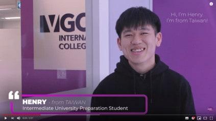 VGC International 台灣學生Henry的真心分享